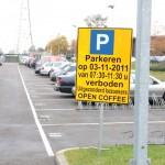 Parkeerverbod uitgezonderd bezoekers Open Coffee