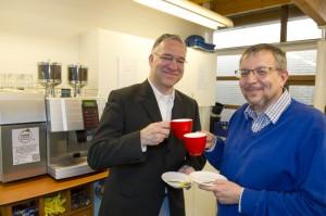 Partnership Gemeente Schiedam (Wethouder Peter Groeneweg) en Open Coffee Schiedam (organisator John Smits) beklonken