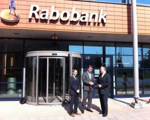 partnership Rabobank Schiedam-Vlaardingen vlnr Javier Alvarez de Eerens, Rik Lagerweij en John Smits