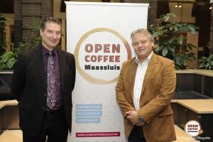 Gastheren van de volgende Open Coffee Maassluis op 10 december, Coen van Gilst en Enno Grinn